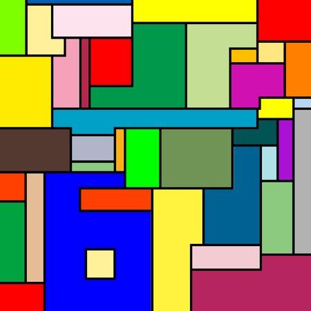 Mondriaan textuur, vector kunst illustratie; meer bit map patronen in mijn galerij Stockfoto - 6110541