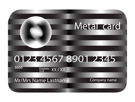 metal credit card, vector art illustration; more credit cards in my gallery