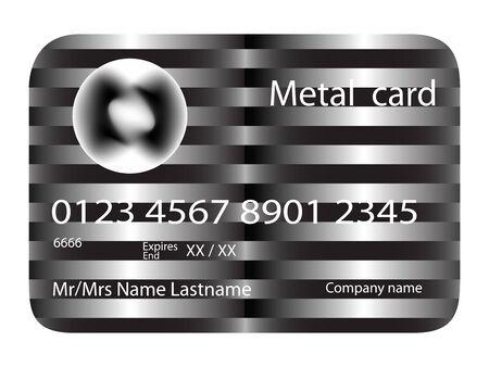 metalen creditcard, vector kunst illustratie; meer creditcards in mijn galerij