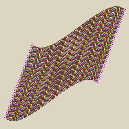 magic carpet, vector art illustration