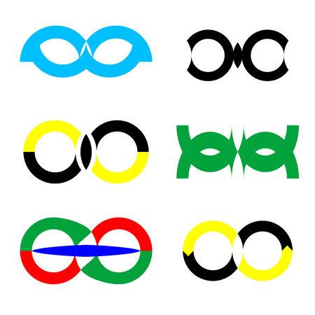 logos isolated on white, vector art illustration Vector