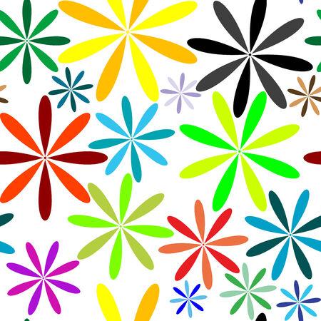 little flowers seamless pattern, vector art illustration 일러스트