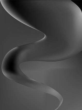 stilized hurricane, vector art illustration