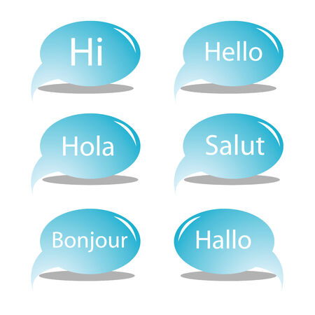 hello text bubbles, vector art illustration, for more text bubbles and drawings please visit my gallery Stock Vector - 6125183