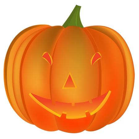halloween pumpkin, vector art illustration; more drawings in my gallery Vector