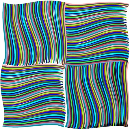 green and blue twisted stripes texture, abstract; vector art illustration