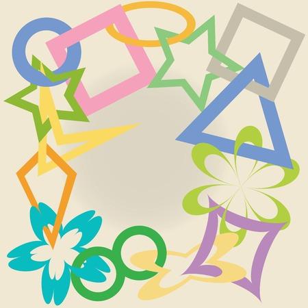 geometric shapes, vector art illustration