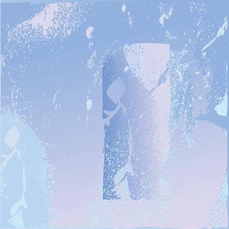 frozen glass: frozen glass texture, vector art illustration Illustration