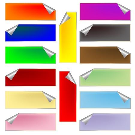 fresh rectangular labels, vector art illustration