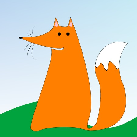 drawing of a fox, vector art illustration, more drawings in my gallery. Vector