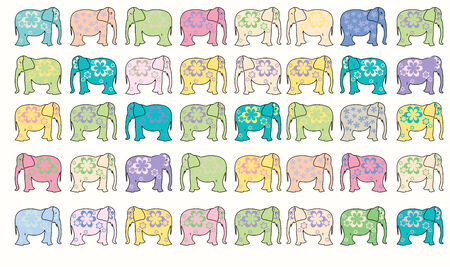 elephant vector background, vector art illustration Stock Vector - 6130504