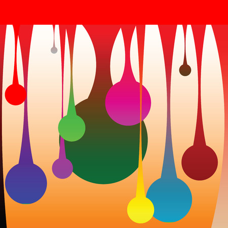 colored drops, vector art illustration