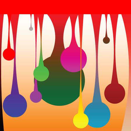 gekleurde druppels, vector kunst illustratie  Stock Illustratie