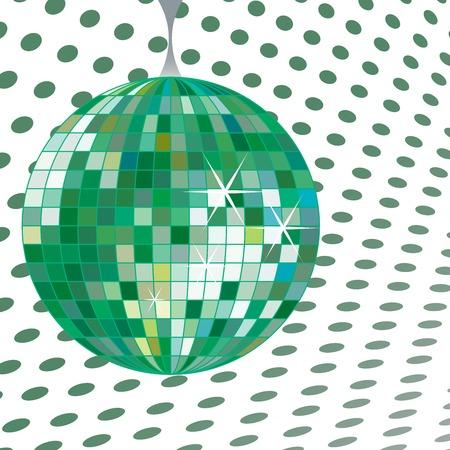 discoball: discoball green, vector art illustration Illustration