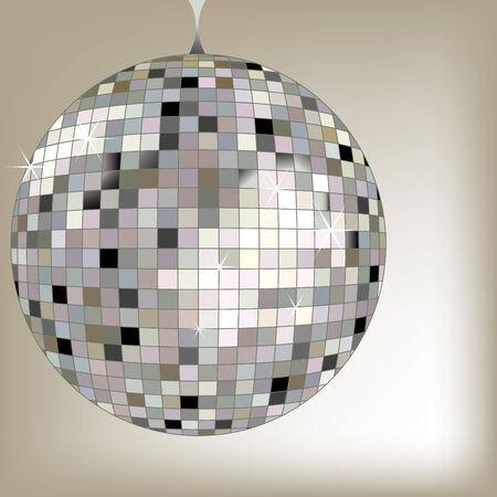 disco ball black, vector art illustration; more disco balls in my gallery Ilustrace