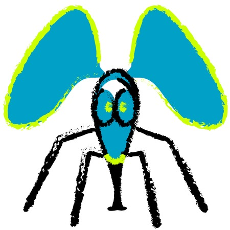 crazy fly, vector art illustration, more vector drawings in my gallery. Ilustrace