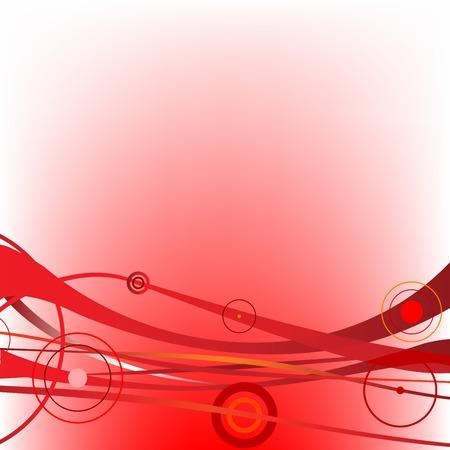 Vagues de cercle rouges, vecteur art illustration. dessins plus dans ma galerie Banque d'images - 6130572