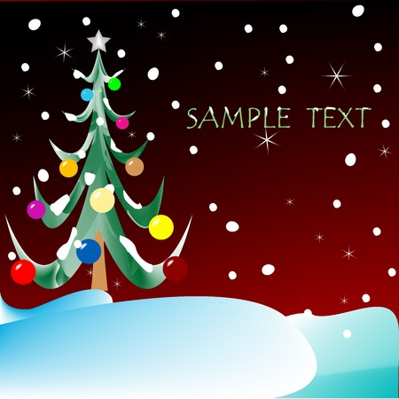 christmas tree with space for text, vector art illustration, more drawings in my gallery Vector