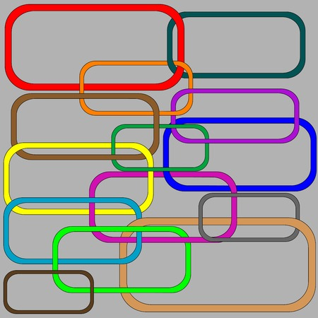 chain elements in colors, vector art illustration Vector