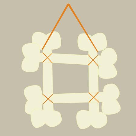 bones frame, vector art illustration Vector