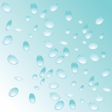 blue water drops pattern, vector art illustration Illustration