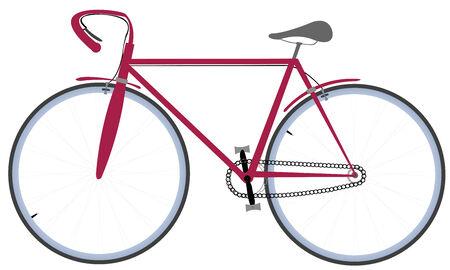 自転車は、白で隔離されます。ベクトル アートの図。