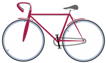 lanes: Bicycle, isolated on white. Vector art illustration.