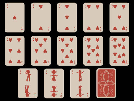 Kinder Spielkarten - Herz, abstrakte Kunst-Abbildung Standard-Bild - 6151250