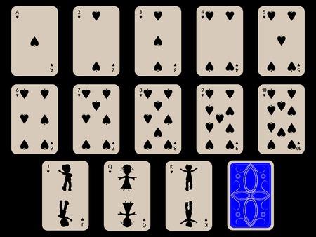 Kinder Spielkarten - Pik, abstrakte Kunst-Abbildung Standard-Bild - 6151252