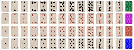Satz von Kinder-Spielkarten abzuschließen, abstrakte Kunst-Abbildung Standard-Bild - 6159587