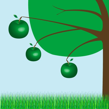 apple tree, vector art illustration; more drawings in my gallery Vector