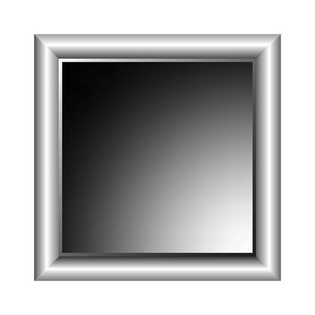 aluminium photo frame, vector art illustration; more photo frames in my gallery Vector