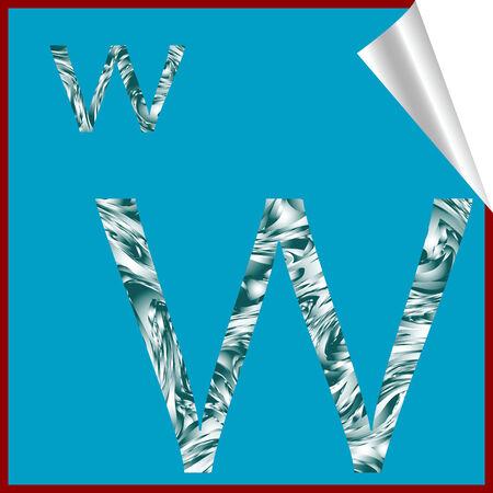 Lettre de l'alphabet W, vector art illustration; plus d'autocollants alphabet dans ma galerie Banque d'images - 6159614