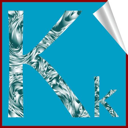 alphabet letter K, vector art illustration; more alphaber stickers in my gallery Vector