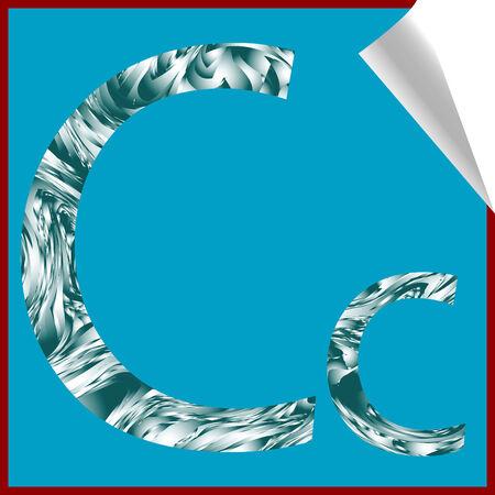 alphabet letter C, vector art illustration; more alphabet stickers in my gallery