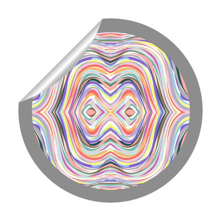 abstract tunnel sticker isolated on white, vector art illustration; more stickers and textures in my gallery Stock Vector - 6159650