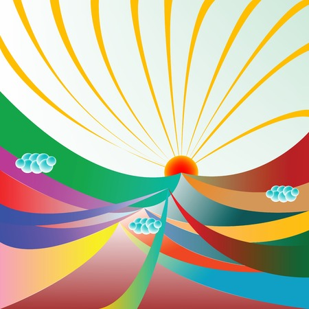 abstract sunshine, vector art illustration; more drawings in my gallery Vector