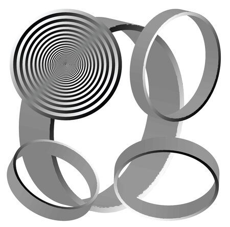 abstract circles illustration, more drawings in my gallery Vector