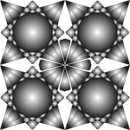 seamless metallic flowers texture, abstract art illustration Illustration