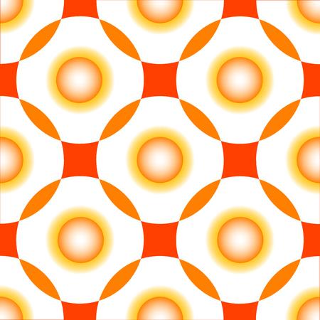 orange circles seamless pattern, abstract art illustration