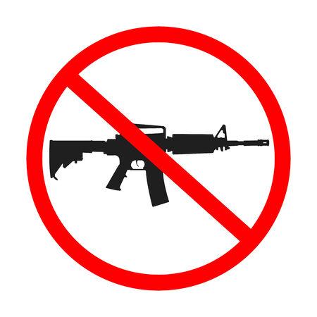 no guns allowed, abstract art illustration Stock Vector - 6177171
