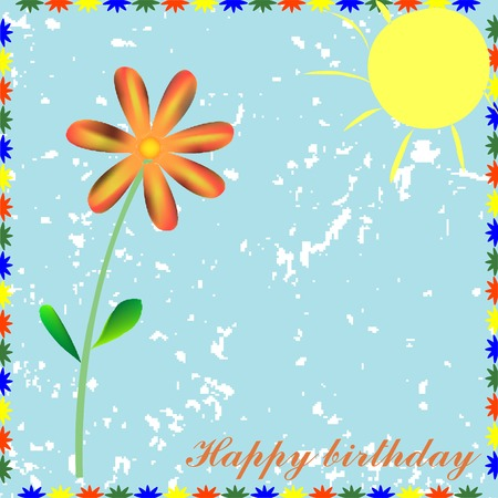 happy birthday card, vector illustration Vector
