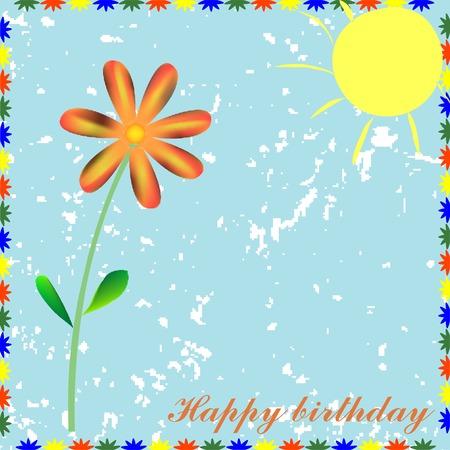 Tarjeta de feliz cumpleaños, ilustración vectorial Foto de archivo - 6177190