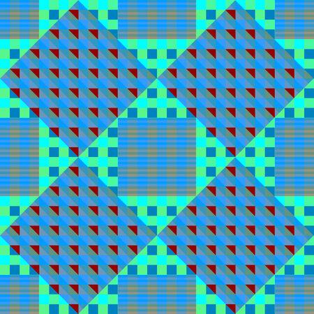 geometric blue seamless pattern, abstract art illustration