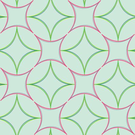 haltbarkeit: geometrische abstrakte nahtlose Muster, Vektor-Kunst-Abbildung