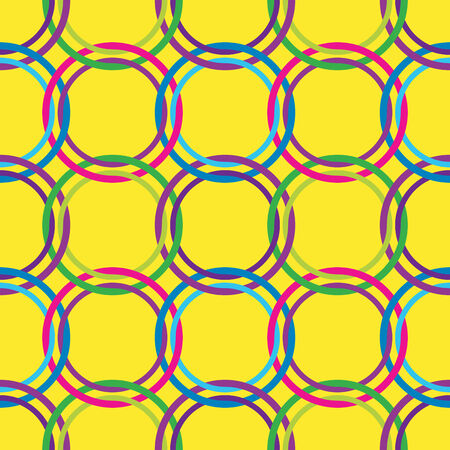 circles seamless pattern in retro colors, abstract art illustration Illustration