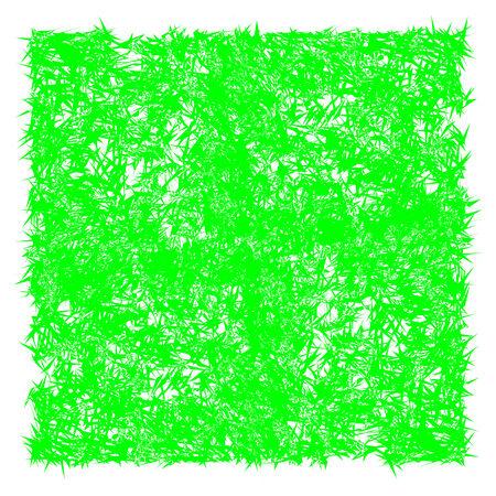 green spins, abstract art illustration