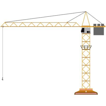 toy crane isolated on white, abstract art illustration Stok Fotoğraf - 6356328