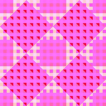 geometric pink seamless pattern, abstract art illustration