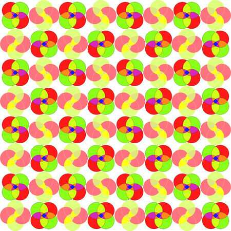 circles seamless abstract pattern, art illustration Vector